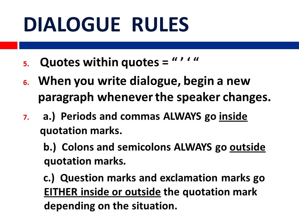 rules on quotes in essays How to quote a quote quoting something in an essay is easy, but quoting a quote can be a bit trickier thankfully, there are a number of simple grammar rules you can learn to help you reference indirect quotes properly select the portion.