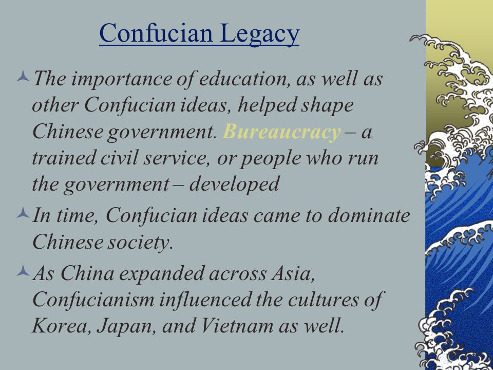 the importance of confucianism in korea The link between confucianism and cosmetic surgery in south korea  how others perceive you in korea is very important because of the confucian culture.
