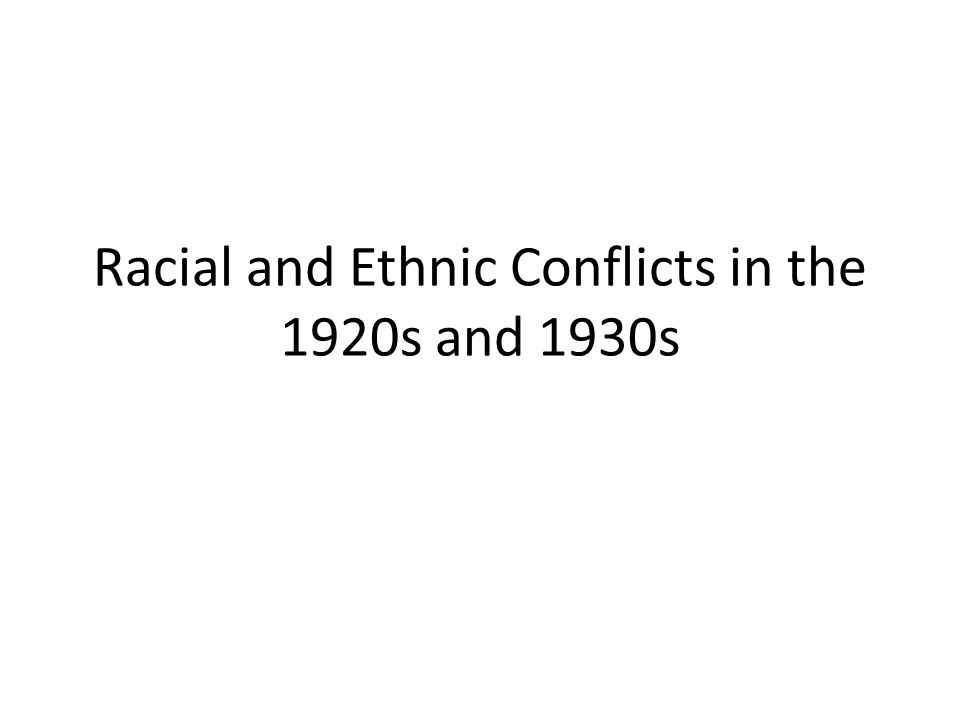 examine racial and ethnic strife in 21082018 read chapter 7 ethnic and racial differences in welfare receipt in the united states: the 20th century has been marked by enormous change in.