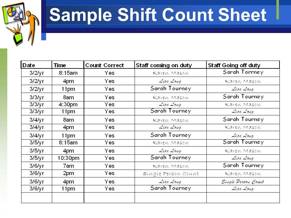 staff count sheet | novaondafm on money count form, medication count log grid, medication sign out sheet, narcotic sheet shift count form, medication mar forms,