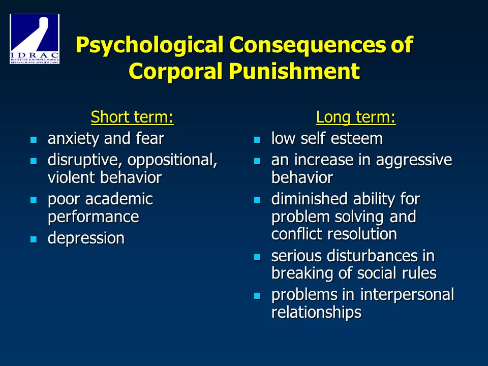 """the issues of spanking and the physical punishment from a psychological perspective It is a disciplinary technique applied to the body with the """"intention of causing some degree of pain or discomfort, however light"""" (united nations committee on the rights of the child [uncrc], 2006) corporal punishment is also known as physical punishment, smacking, spanking, belting or hitting (saunders, 2013."""