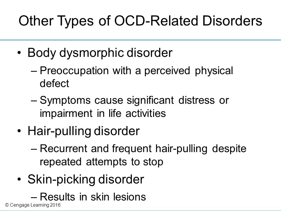 Anxiety and Obsessive-Compulsive and Related Disorders - ppt download