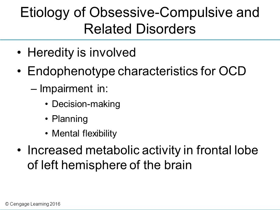characteristics of obsessive compulsive disorder Obsessive compulsive disorder can have a profound effect on a person's life.