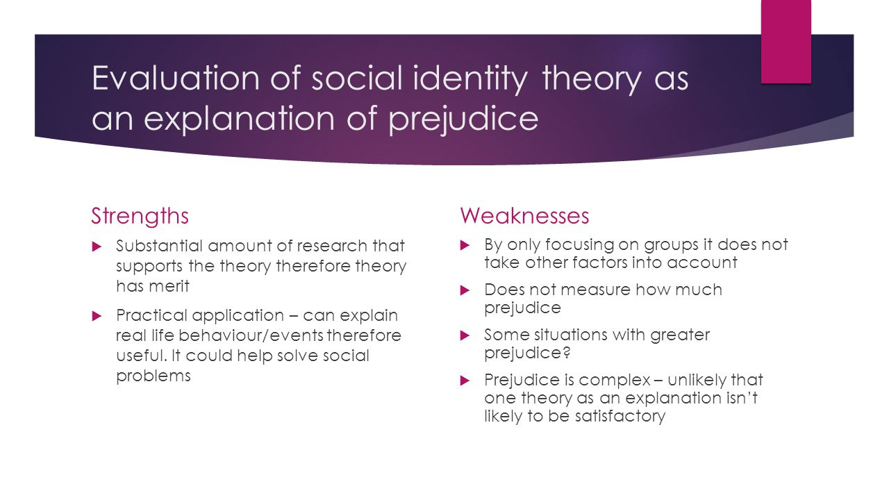 Theories of prejudice