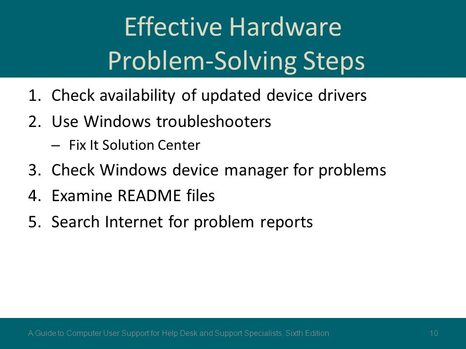 computer hardware problems and solutions pdf