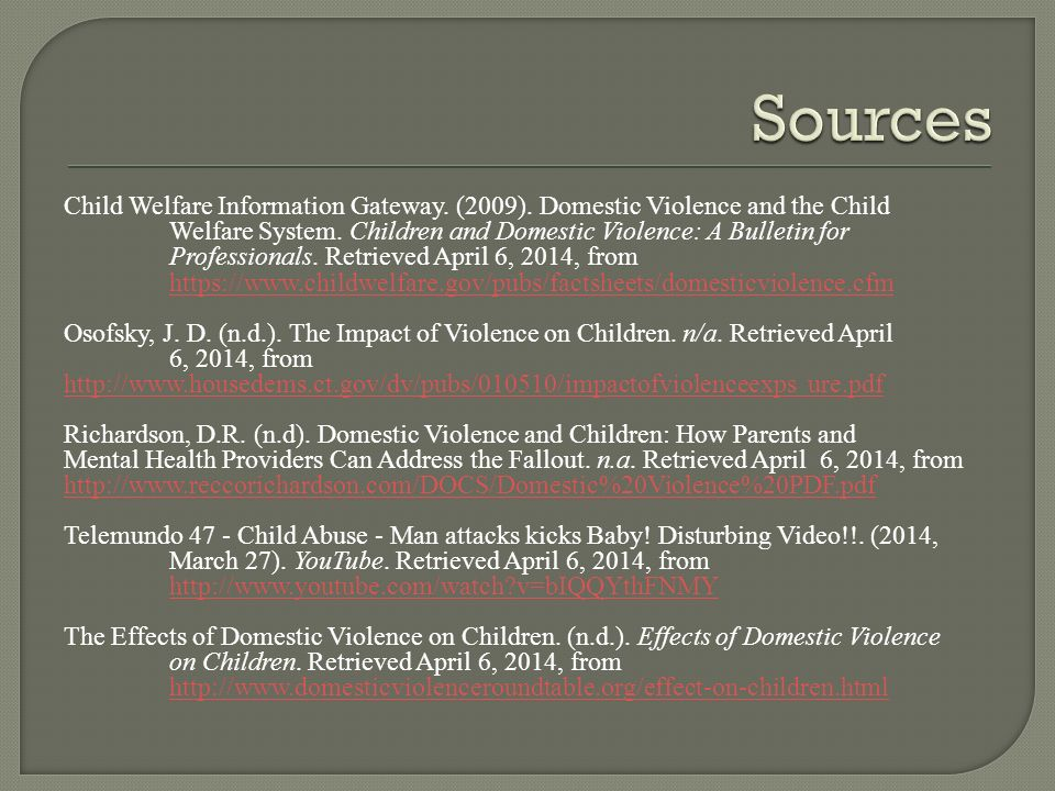 Thesis domestic violence and credible source