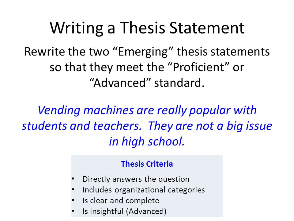 developing a thesis for an essay To other essays, but to develop an idea of your own in greater depth and detail as your as you describe these examples in your paper you are developing your thesis.