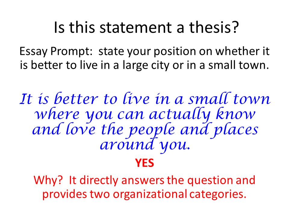 developing a thesis statement ppt  7 is