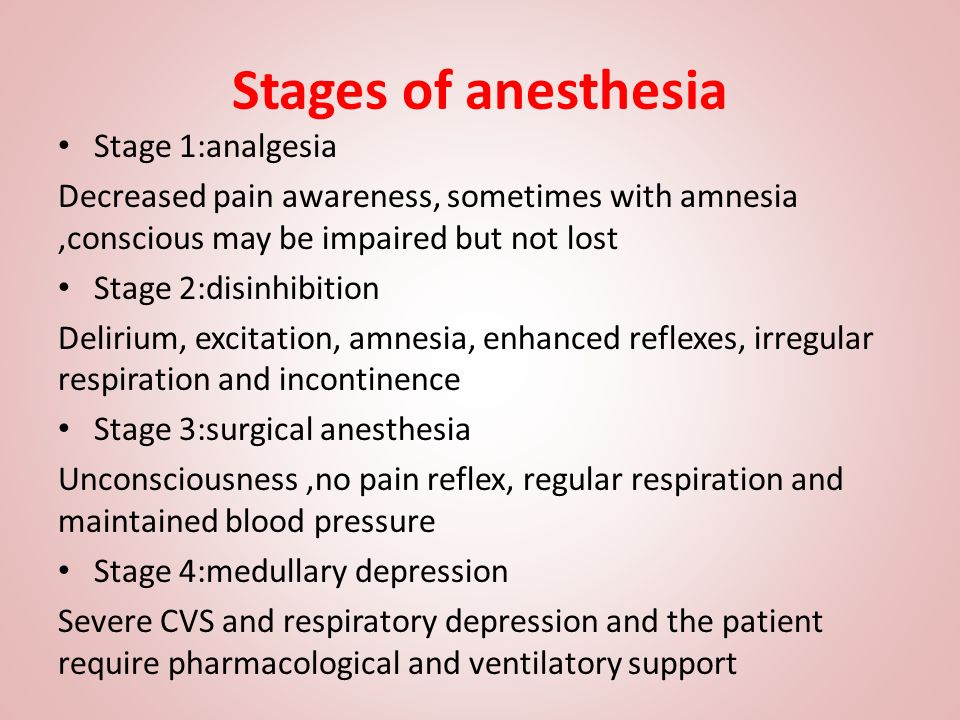stages of general anaesthesia pdf