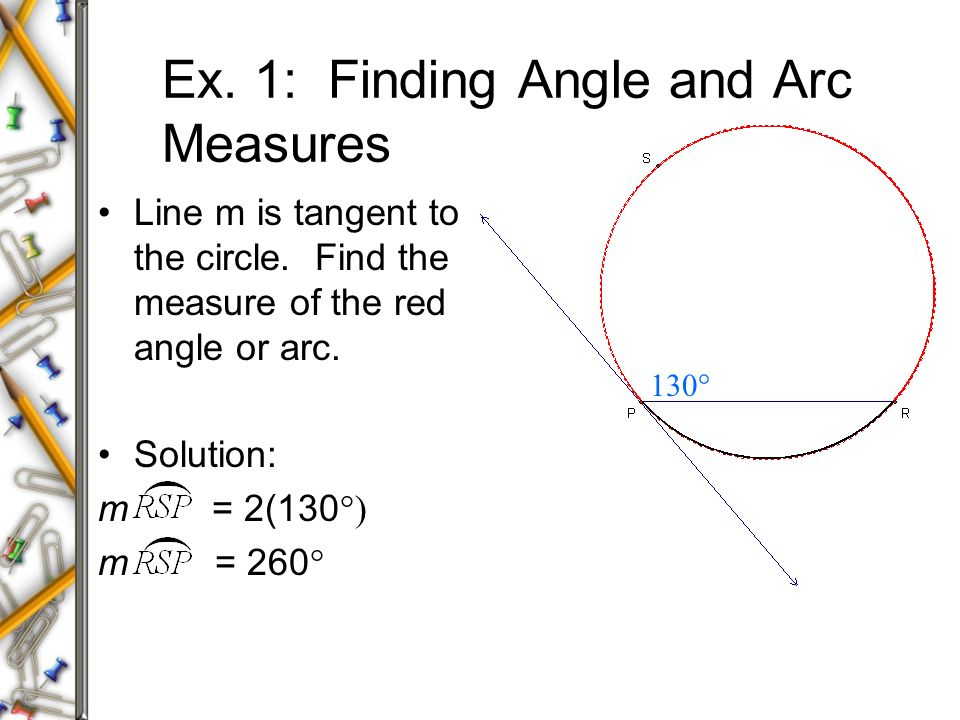 arc length and angle relationship in circles