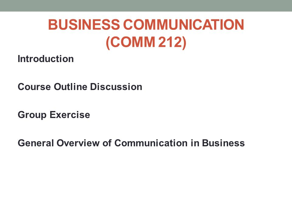 business communication outline It's important that communication with staff doesn't only occur around  use our  template below to clearly outline your businesses policies and.