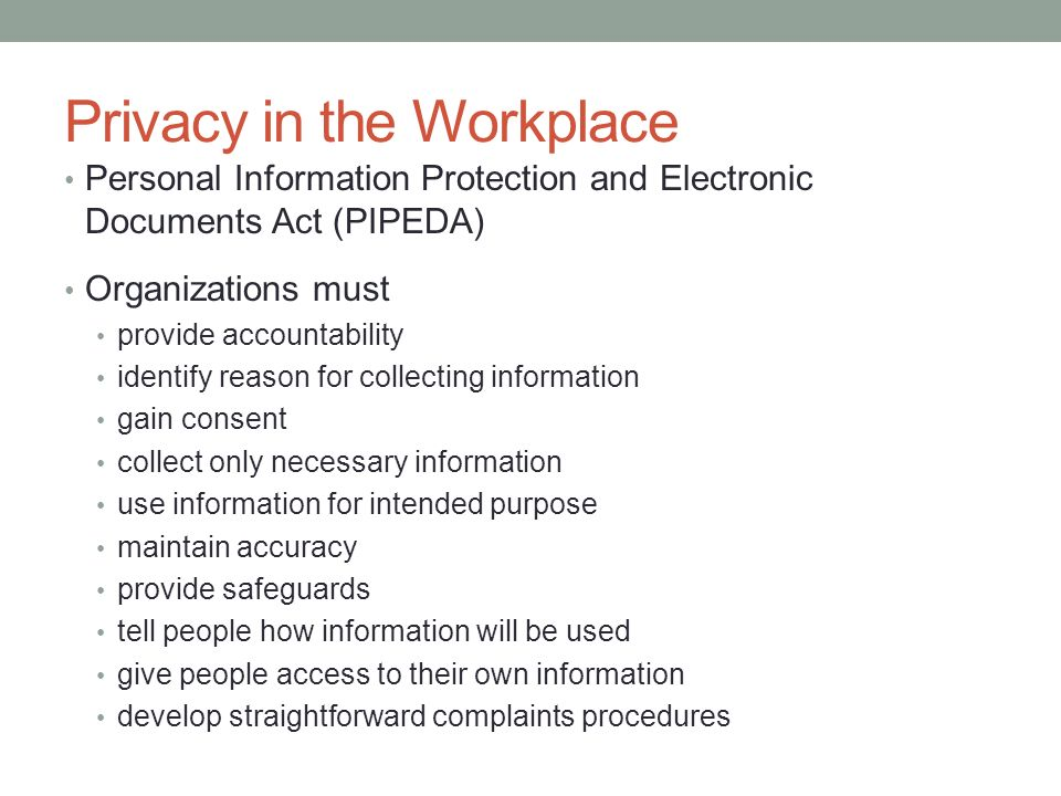 privacy in the workplace This free business essay on essay: privacy issues in workplace monitoring is perfect for business students to use as an example.