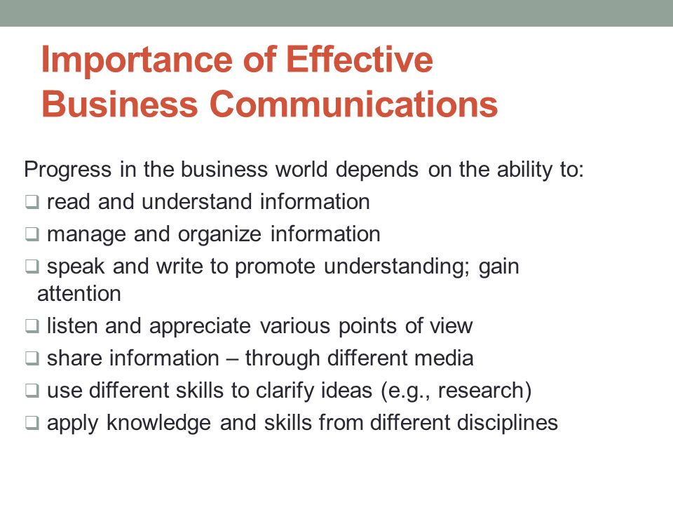 BUSINESS COMMUNICATION (COMM 212) - ppt download