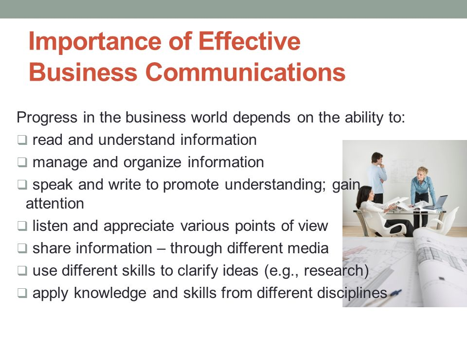 Report on importance of communication in