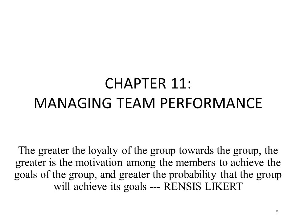 managing team performance Project success hinges not only on the effectiveness of the project team and how  well they work together, but also on the project manager's ability to lead and.
