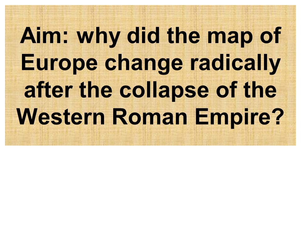 an analysis of the fall of the western roman empire The western roman empire (or, officially, the roman empire) was the western division of the roman empire from its division by the emperor diocletian in 285 the western and eastern divisions each later split evenly into ten.