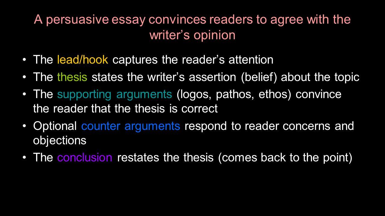persuasive essay lead ins