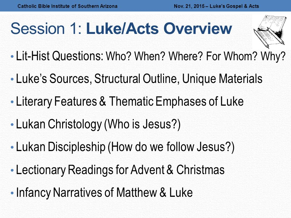 gospel of luke essay questions