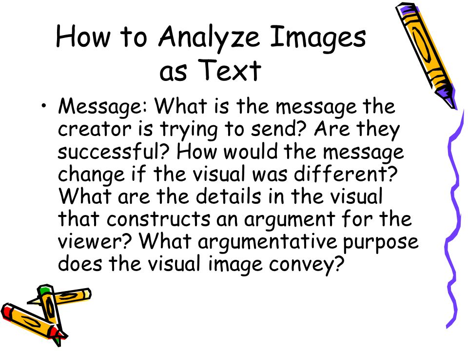 analyzing visual messages Visual communication does not include language codes it leaves the visual message and the recipient alone this paper focuses on the production of meaning from visual messages in advertising from a semiotic analysis perspective which can be examined through viewer responses to identify patterns of meaning construction.