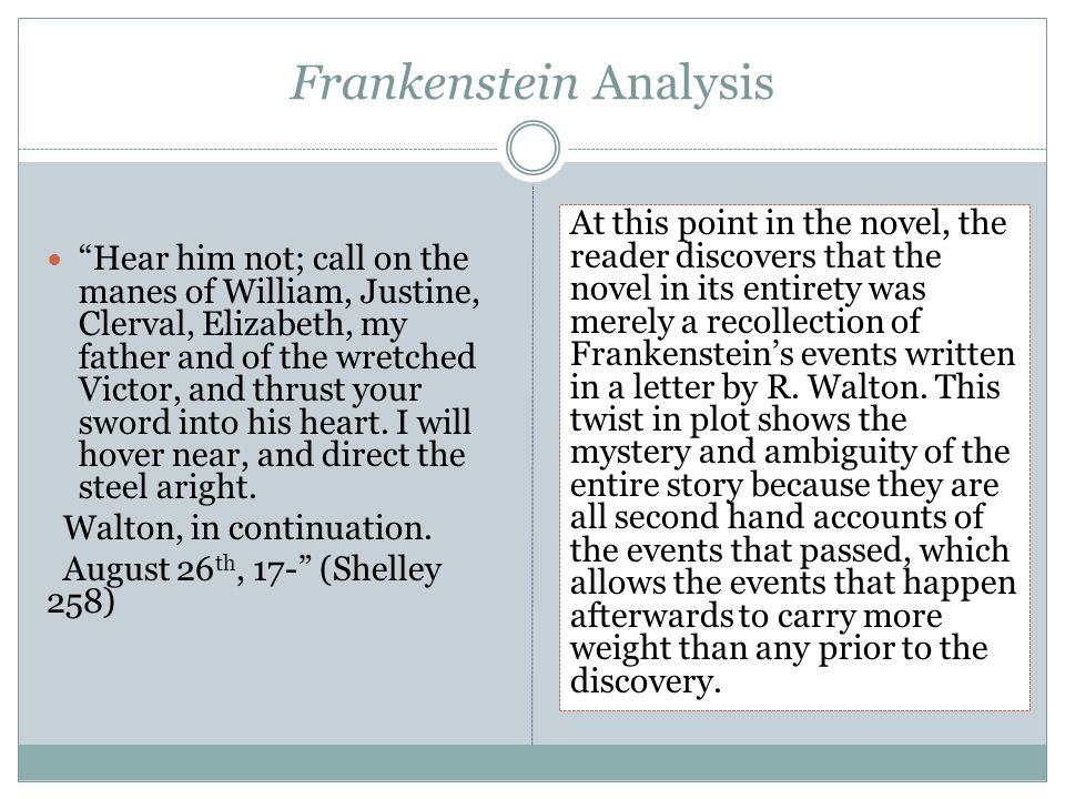 """a history of the writing of frankenstein and the analysis fo frankenstein by mary shelley The article presents mary shelley's rambles in germany and italy in  quoted fo r another page as shelley's  mary shelley's occasion al """"writing to the."""