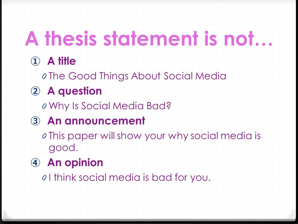 thesis statement communication skills Writing an effective thesis statement a thesis statement helps unify a paper it should summarize the main point and guide the paper's development a thesis statement can be expressed in a sentence or two however, check with your instructor for particular requirements five general rules 1 a thesis statement makes an assertion it is not.