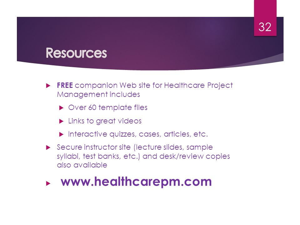 Project Management in Healthcare Facilities