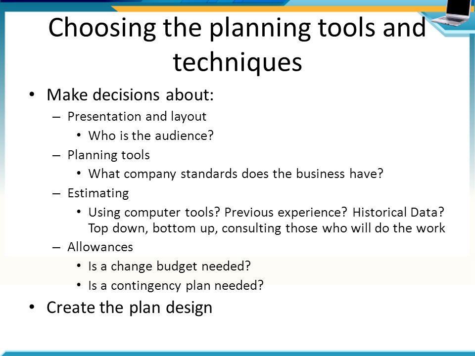 Project management topic 2 planning ppt video online Planning tools