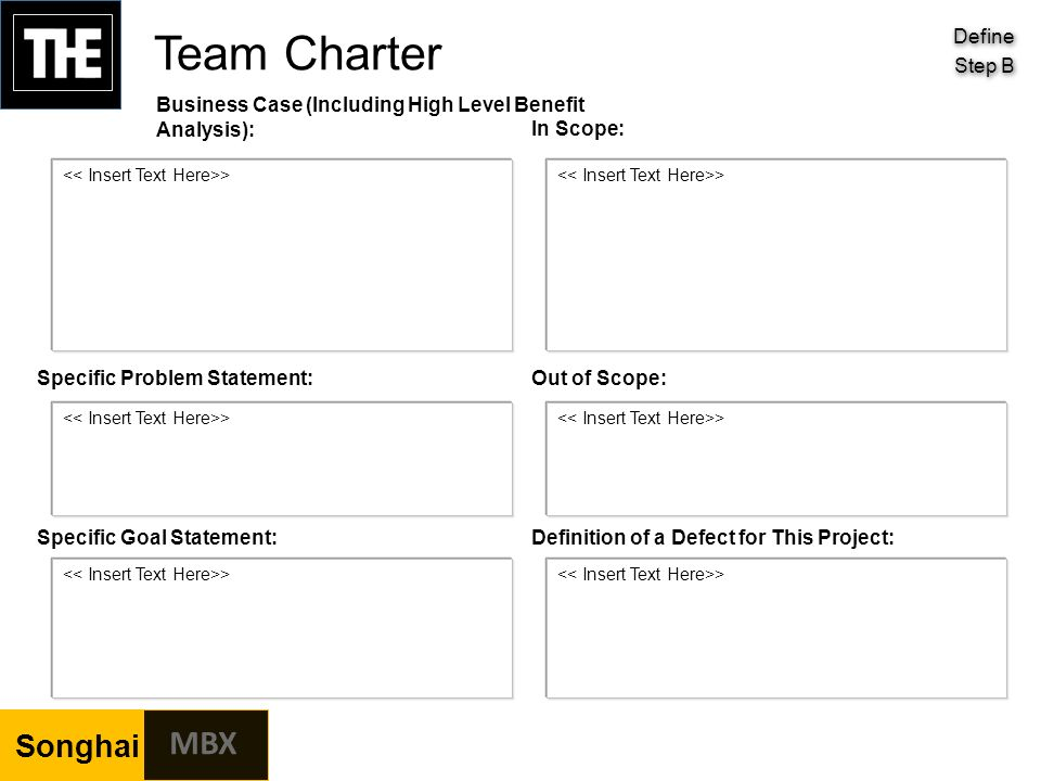 analysis of team charter However, the charter does not tell the team how to complete the work rather, it tells them what they are trying to accomplish.