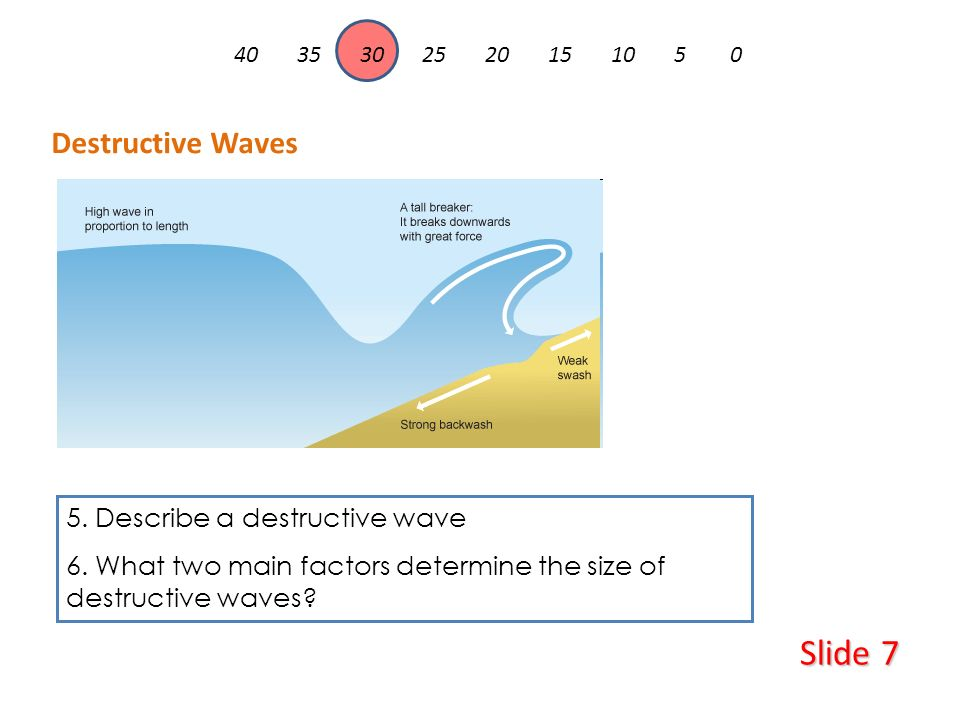geological factors that determine the destructive Four key factors affect the erosion of the coastline:  the shape of the coastline -  headlands of a coastline are exposed to the full force of destructive waves.
