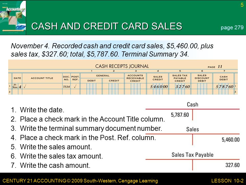 Journalizing Cash Receipts Using a Cash Receipts Journal ppt – How to Write a Cash Receipt