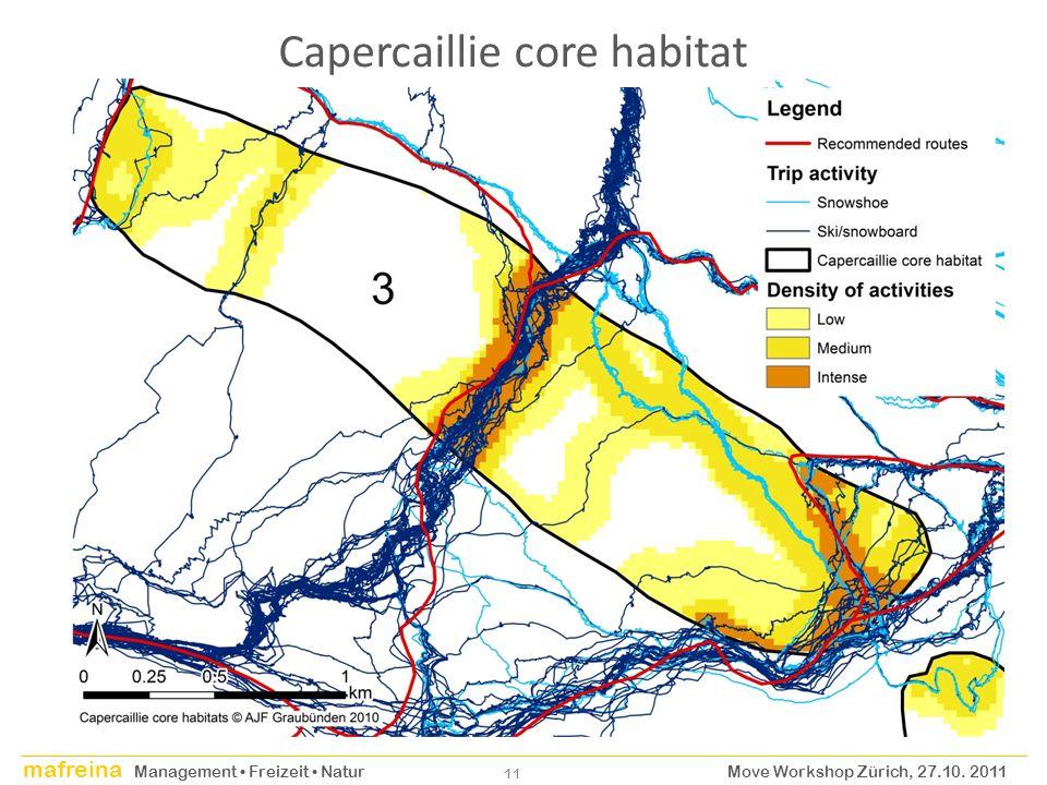 Capercaillie core habitat