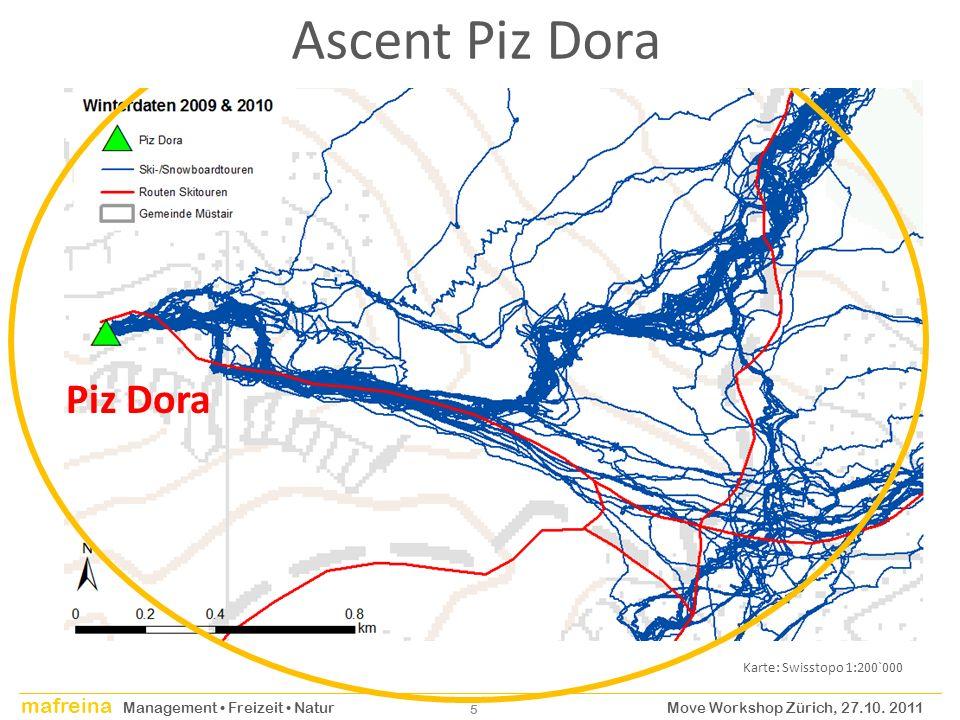 Ascent Piz Dora Piz Dora Karte: Swisstopo 1:200`000