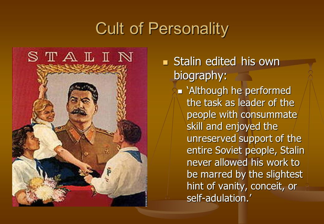 the cult of stalin essay We will write a custom essay sample on any topic specifically for you for only   this was called the cult of stalin, stalin dictator of russia.