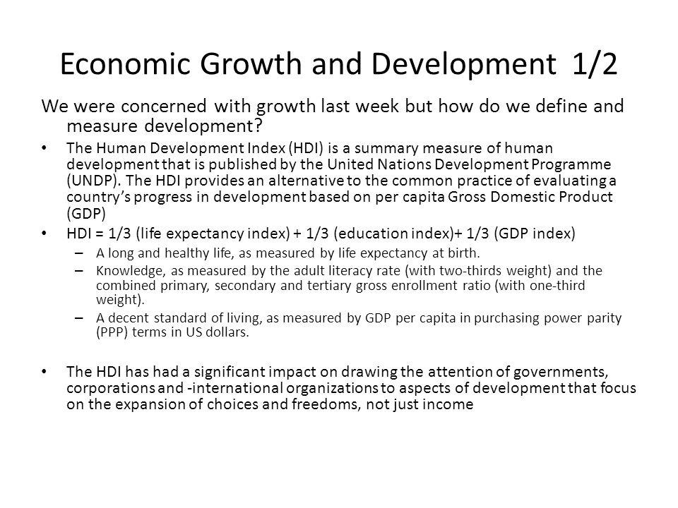 measures of economic growth and development pdf