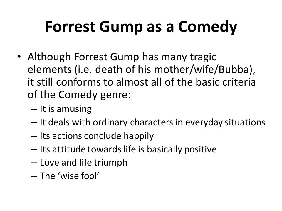 theory based character description of jenny in forrest gump The main characters in the movie are forrest gump and jenny curran the story  mainly follows forrest, but it would be right to call jenny the.