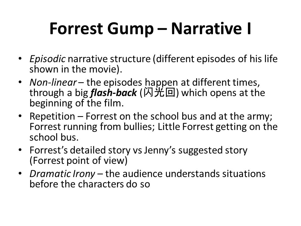 psychological analysis of jenny forrest gump Third year university work for which i was awarded a first analysis of the music featured in forrest gump: in this essay i will discuss the music used in.