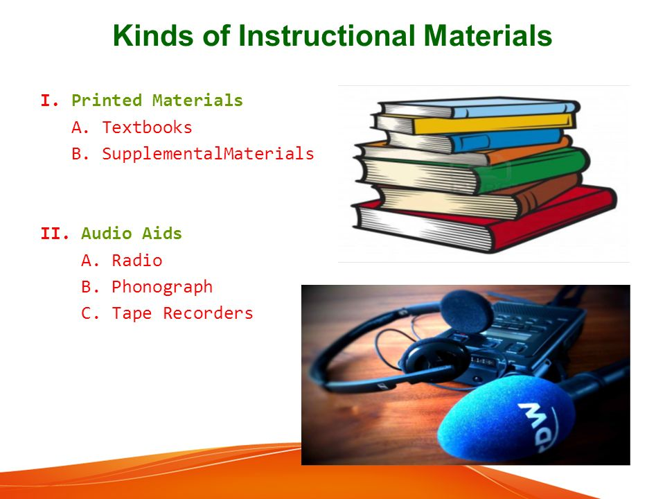 instructional materials