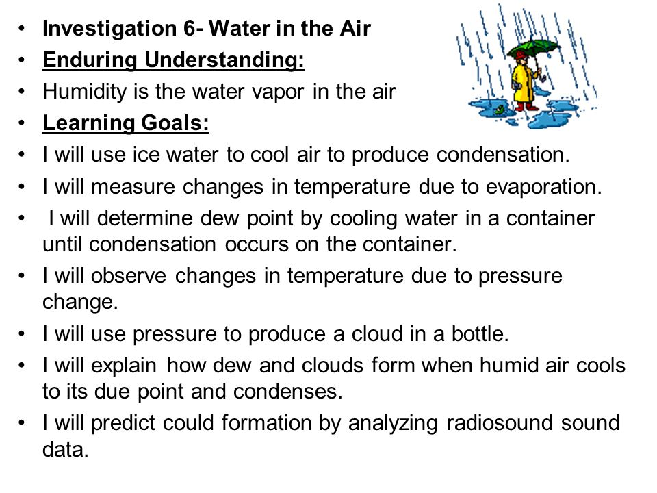 WATER IN THE AIR. - ppt video online download