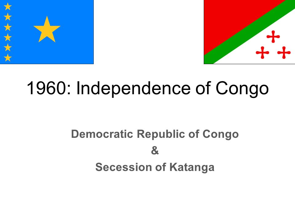 1960: Independence of Congo
