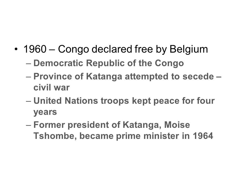 1960 – Congo declared free by Belgium