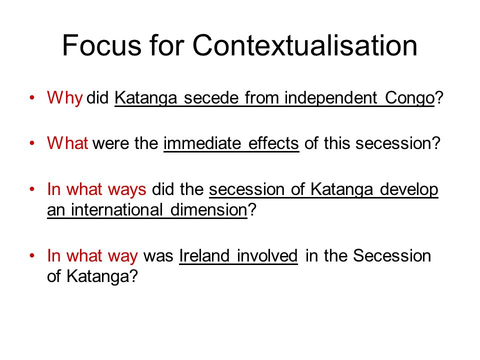 Focus for Contextualisation