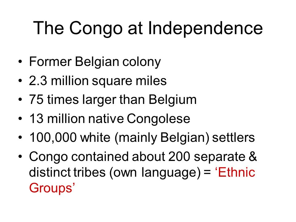 The Congo at Independence
