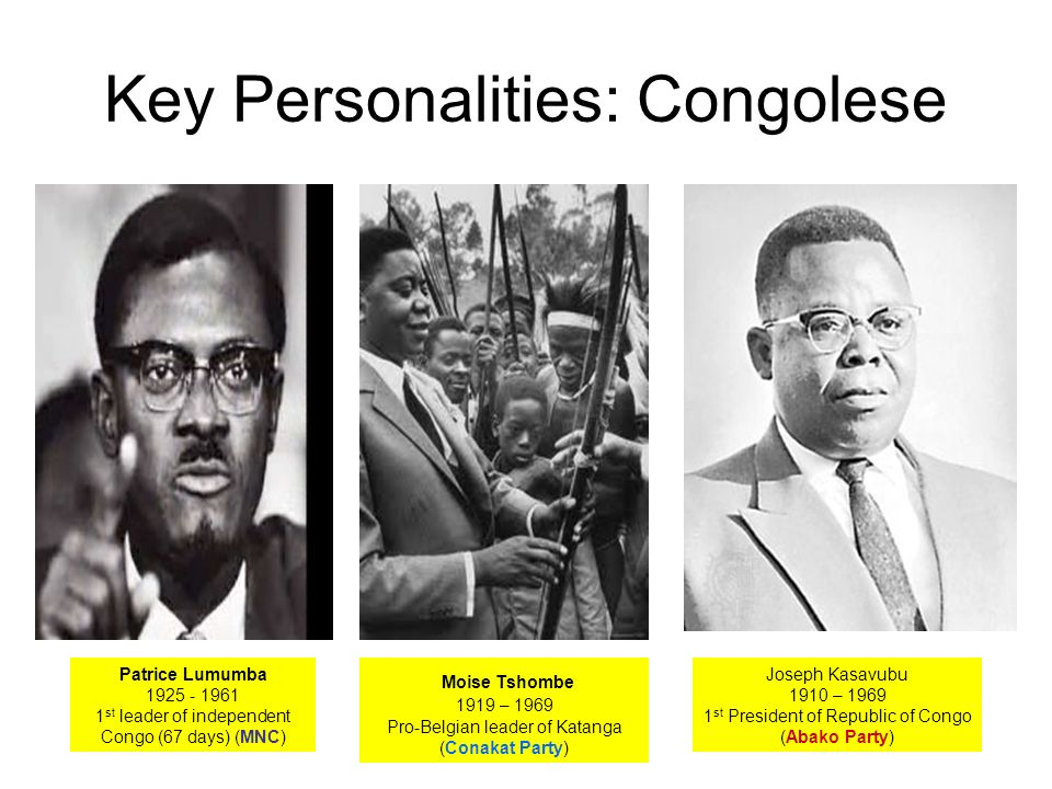Key Personalities: Congolese