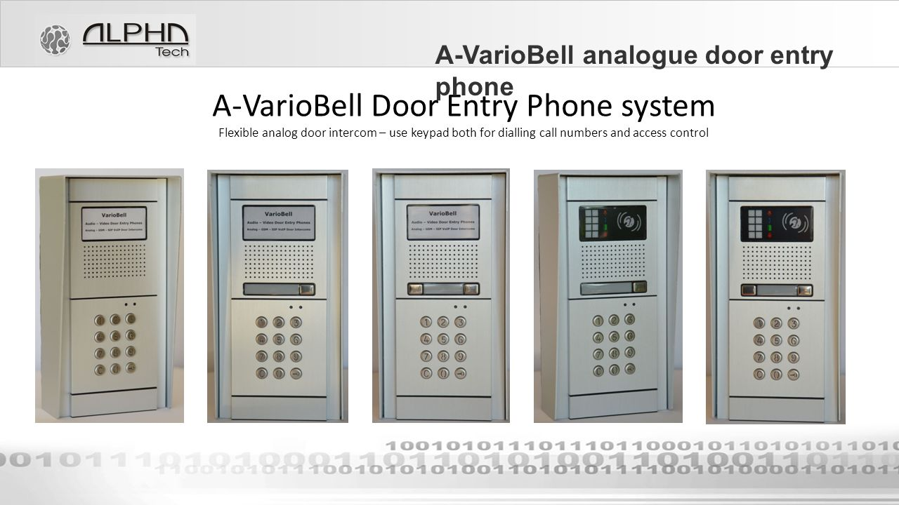 Office Or Apartment Back Light Door Phone With Builtin Of Door Entry