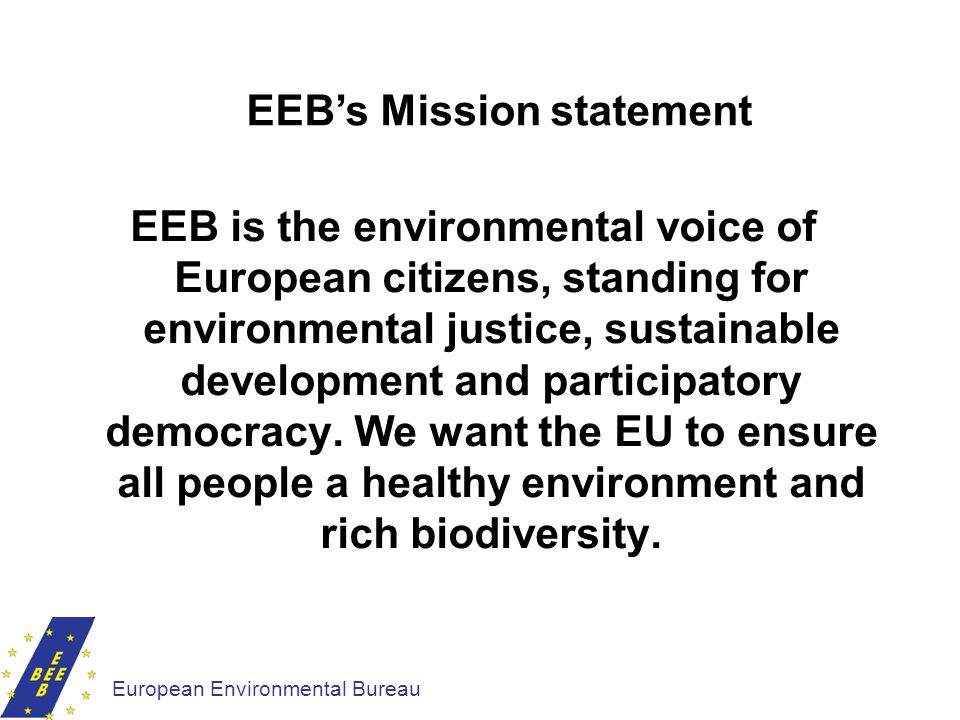 EEB's Mission statement