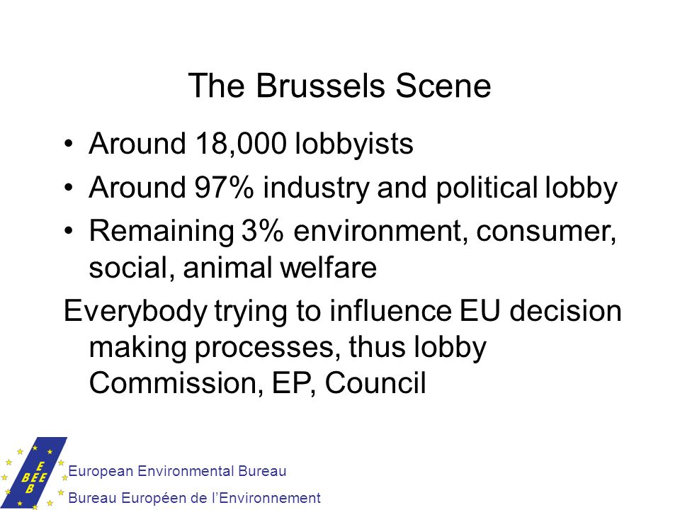 The Brussels Scene Around 18,000 lobbyists