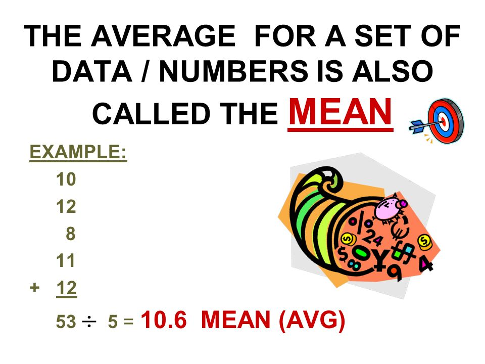 how to find the average of a set of numbers