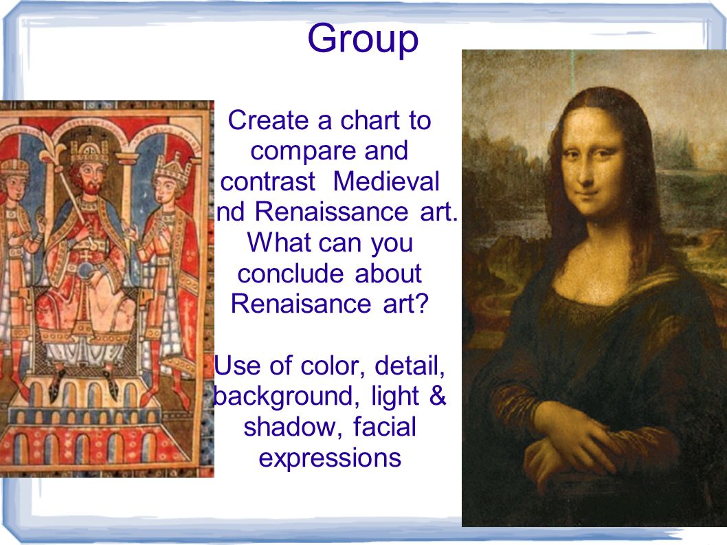 comparing medieval and renaissance paintings