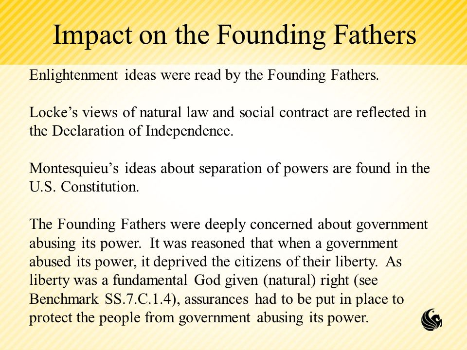 the enlightenment s influence on today s government American government is a product of numerous enlightenment thinkers, who thrived in the late 17th and early 18th centuries these include the english philosopher thomas hobbes while some of hobbes' ideas were contrary to american governing principles -- like his belief in absolute power over a government's subjects -- many were perfectly.