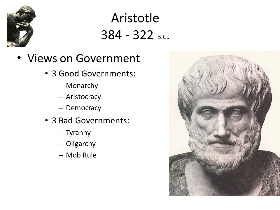 What Types of Government Did Aristotle Want?